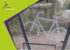 Glasfolierung Fahrradständer